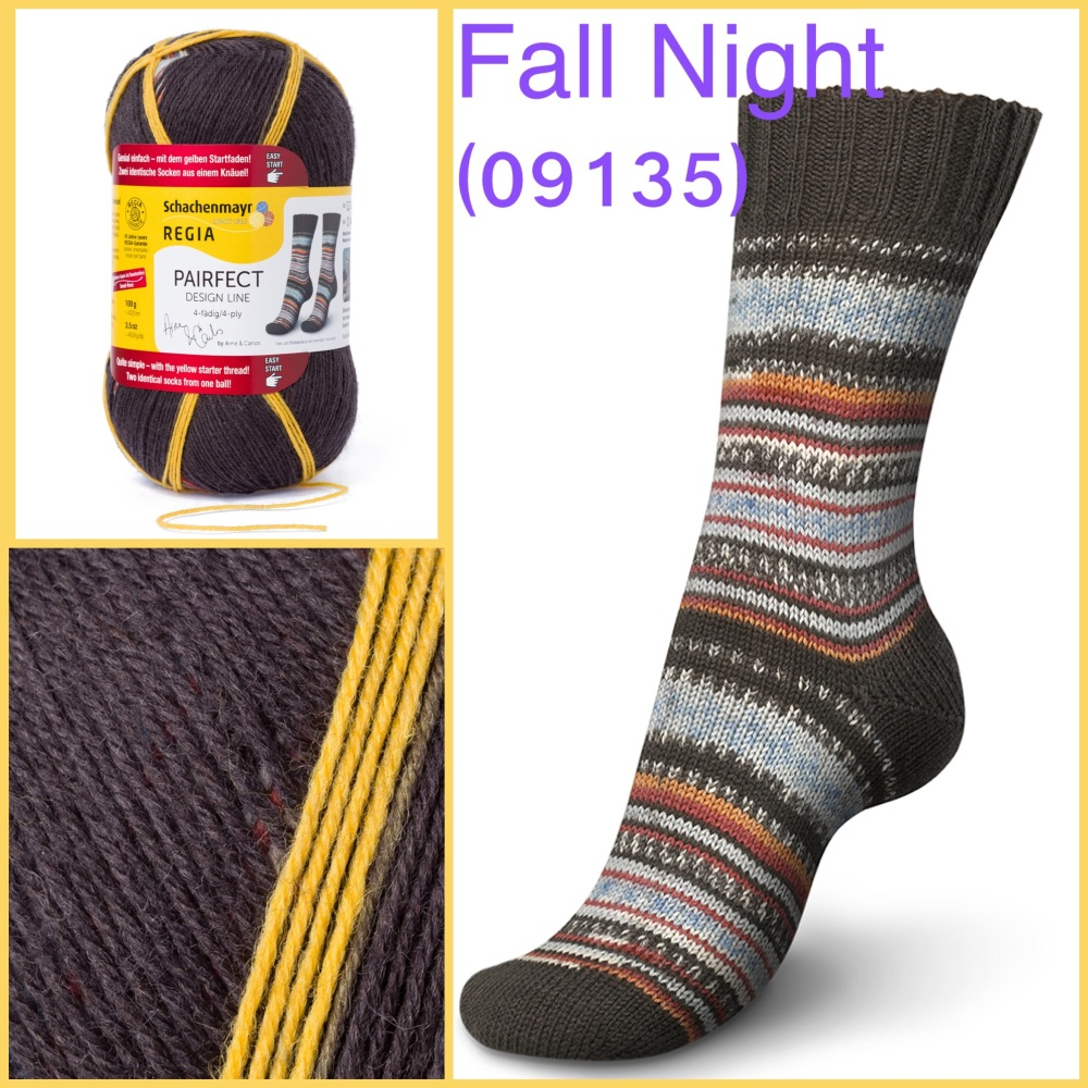 regia pairfect Arne & Carlos 4ply sock yarn fall night color