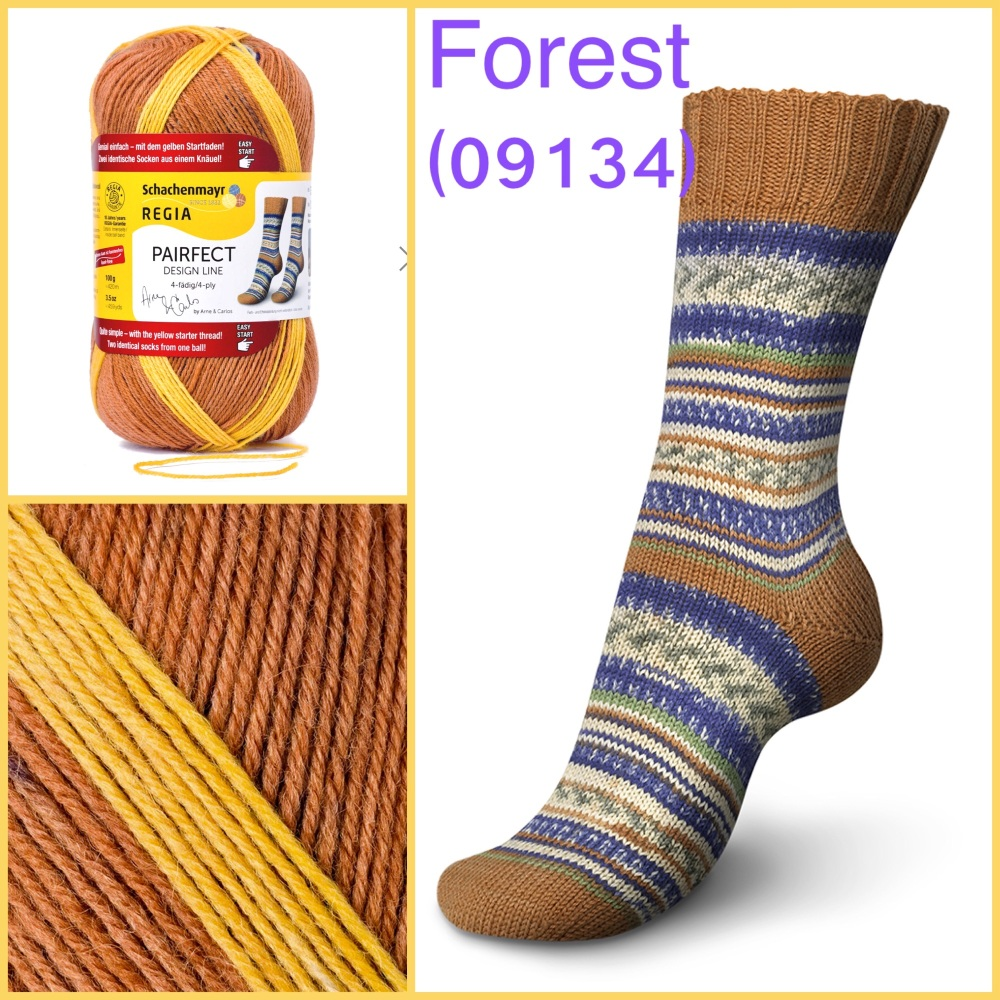 regia pairfect Arne & Carlos 4ply sock yarn forest