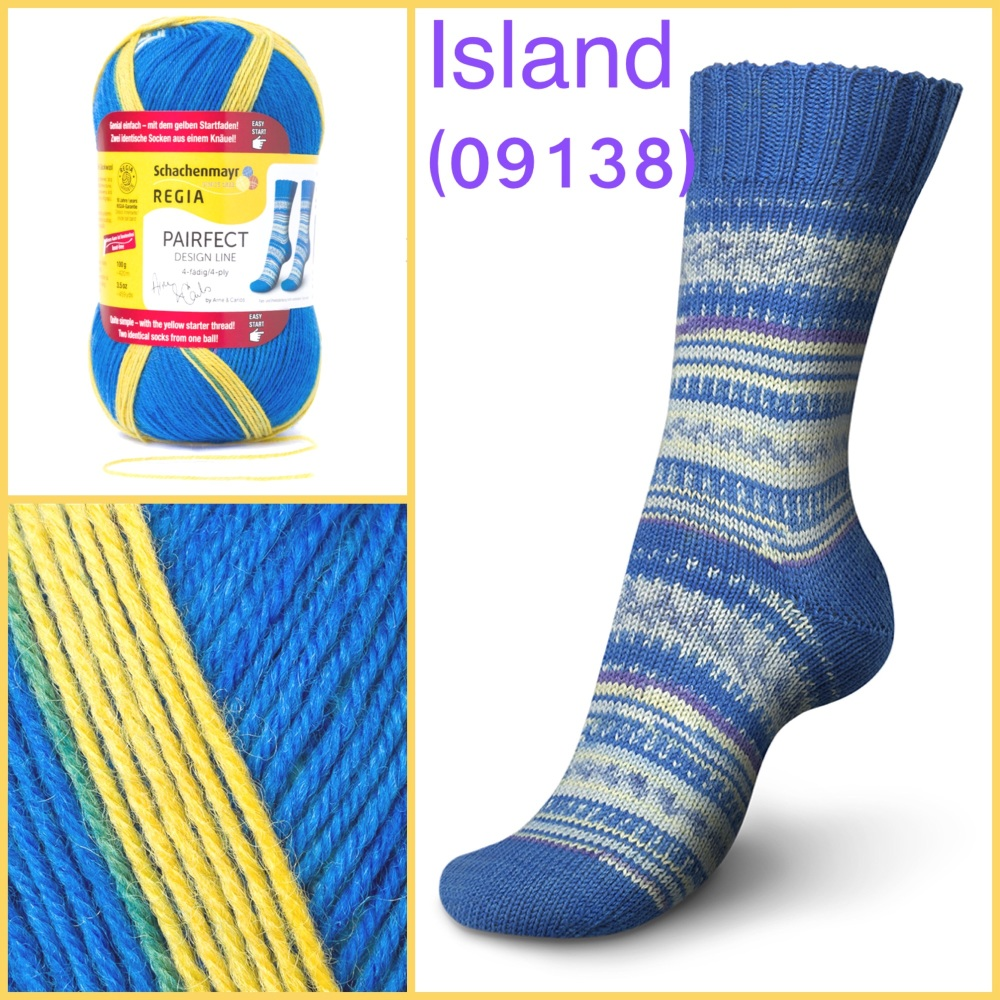 regia pairfect Arne & Carlos 4ply sock yarn island color