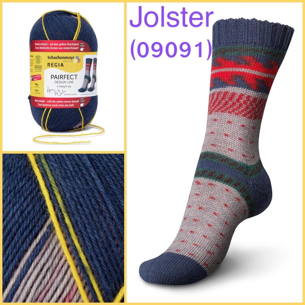 regia pairfect Arne & Carlos 4ply sock yarn jolster