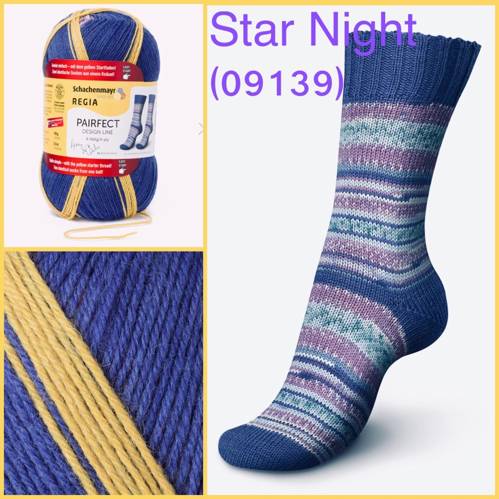 regia pairfect Arne & Carlos 4ply yarn star night