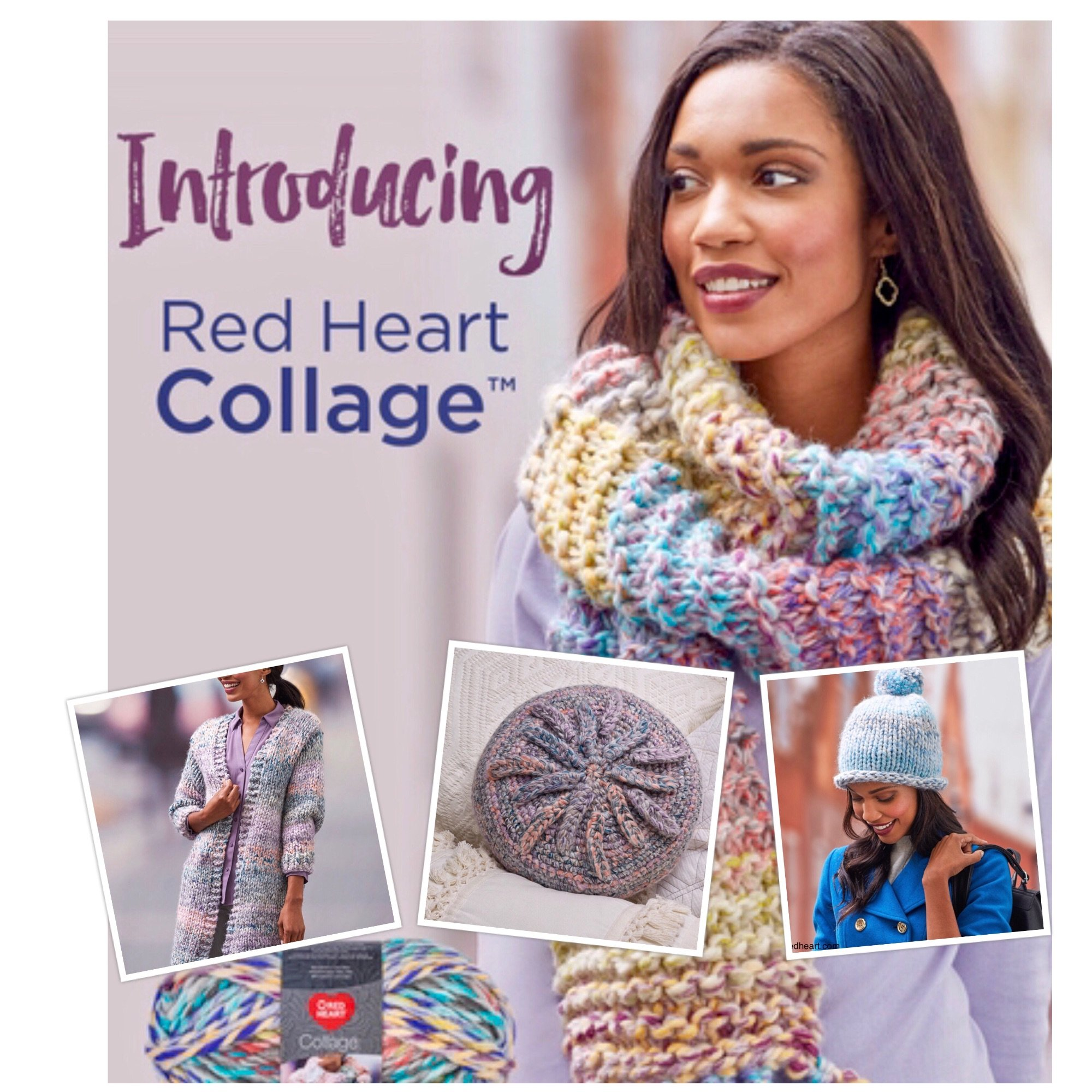 red heart collage jumbo yarn free patterns pictures