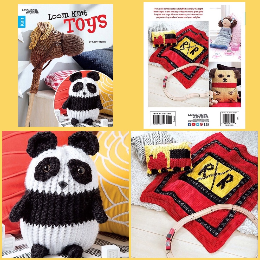 leisure arts loom knit toys booklet