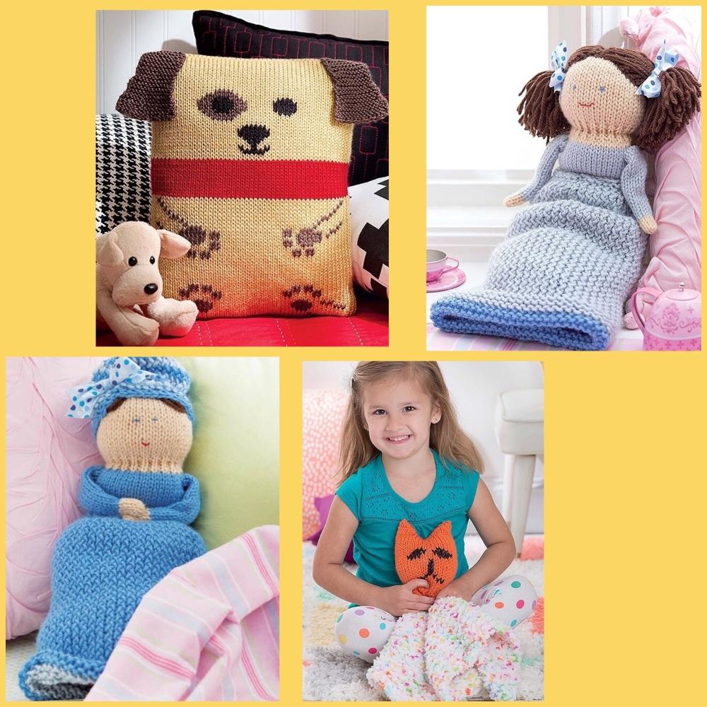 leisure arts loom knit toys book dolls puppy