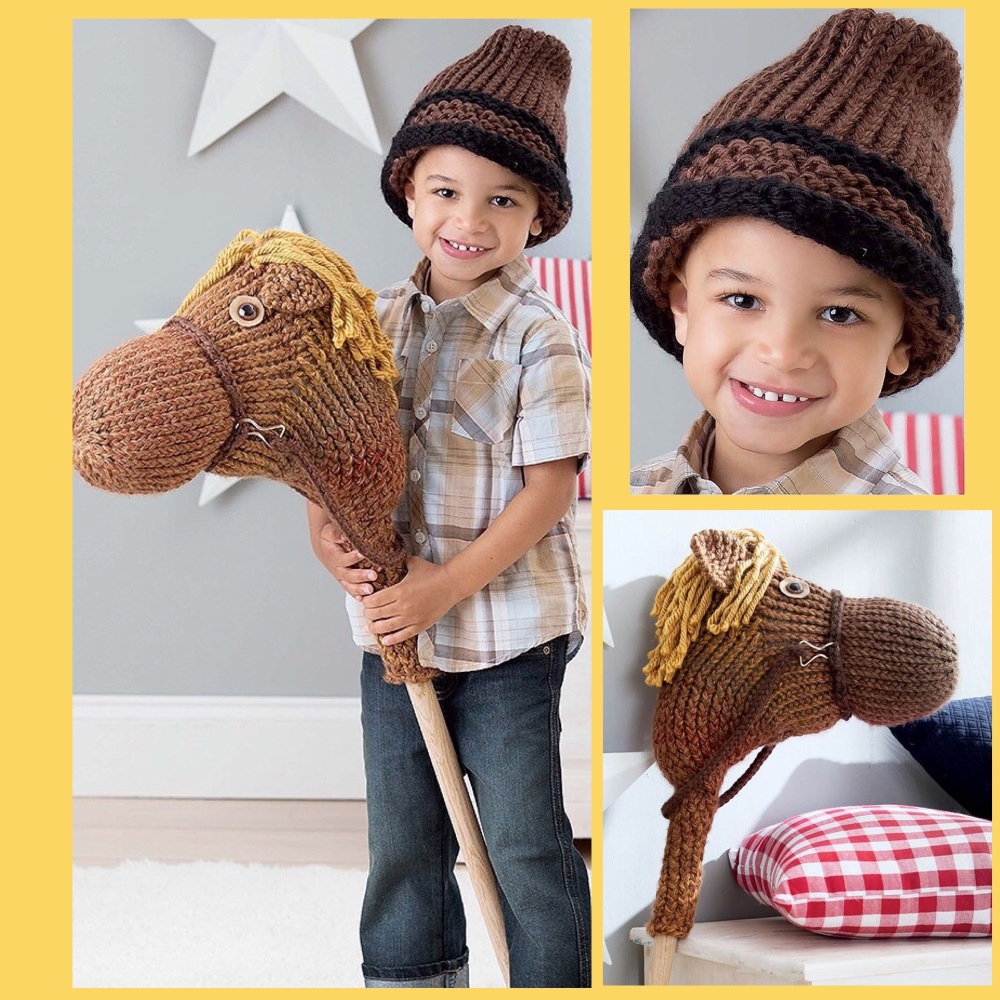 leisure arts loom knit toys horse hat
