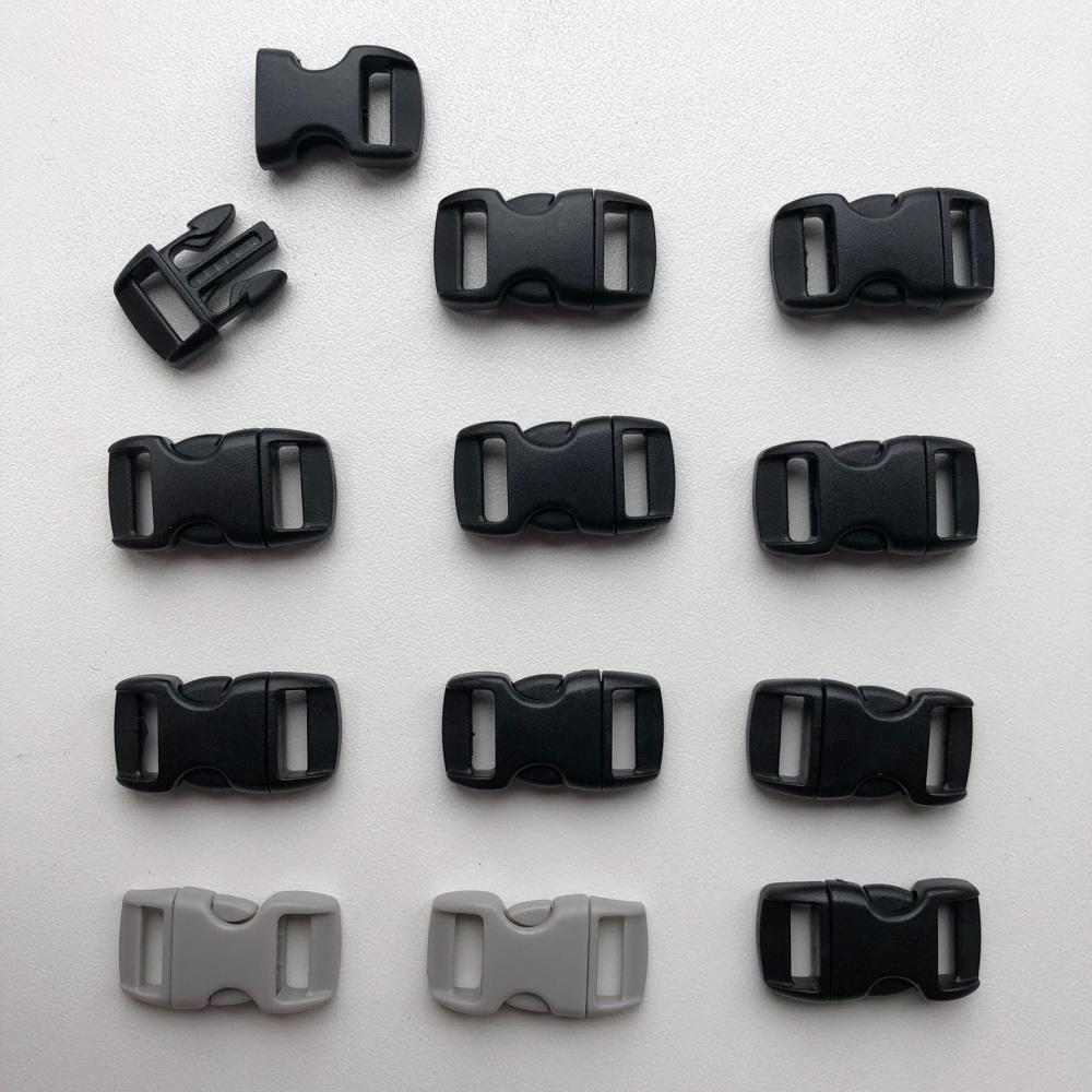Buckles - Black & Grey. Pack of 12. (KnitUK)