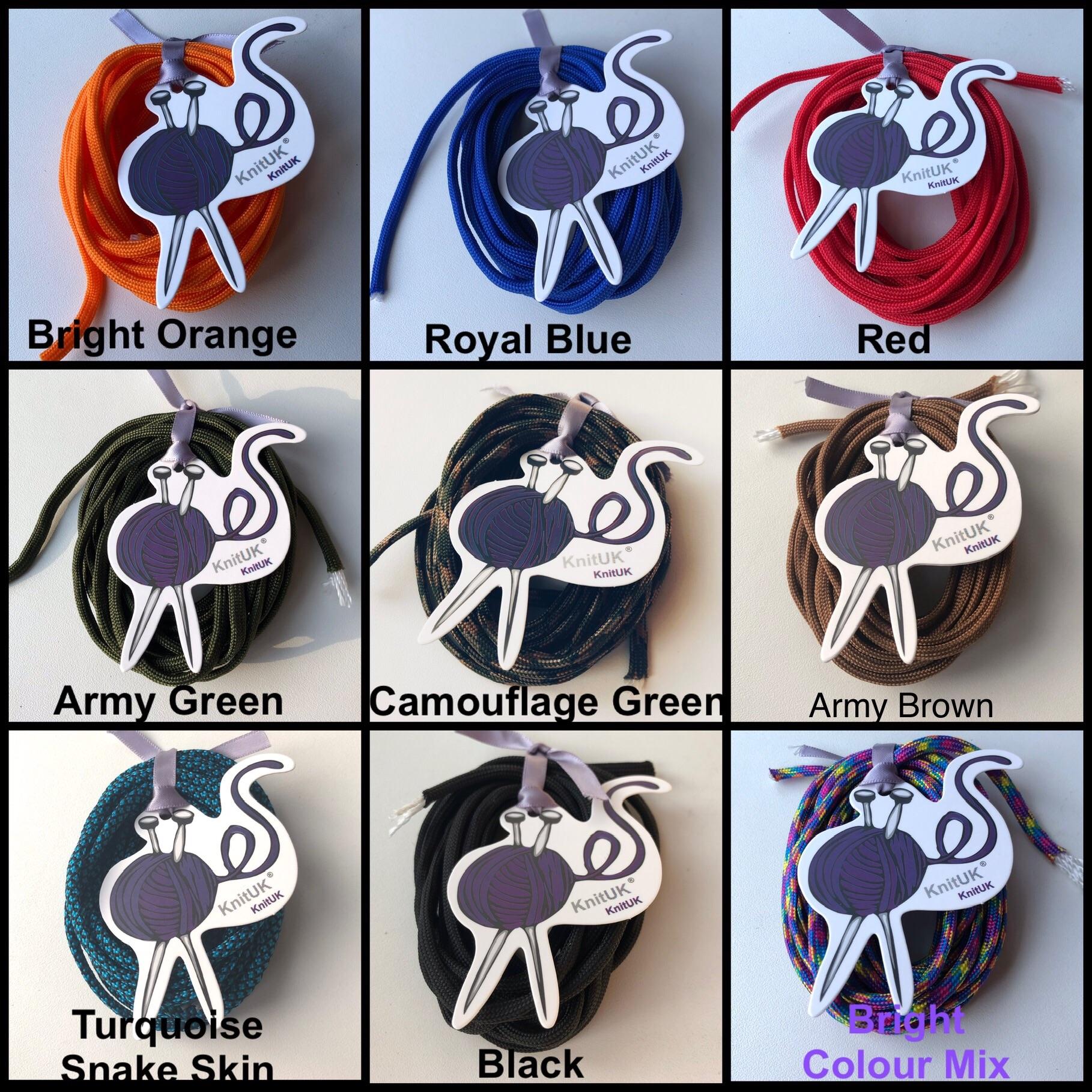 Knituk paracord 550 skein colours