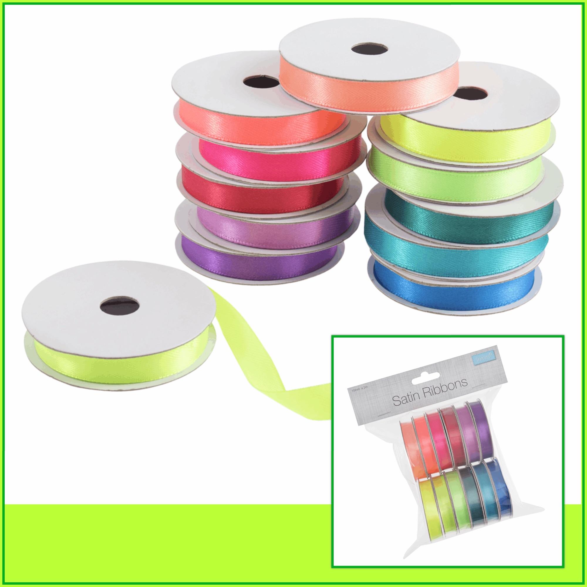 Trimits satin ribbon bright colours