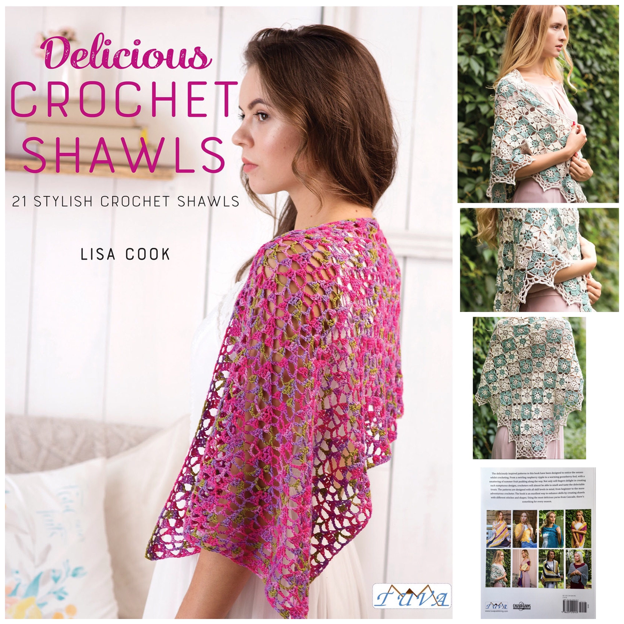 tuva book delicious crochet shawls lisa cook