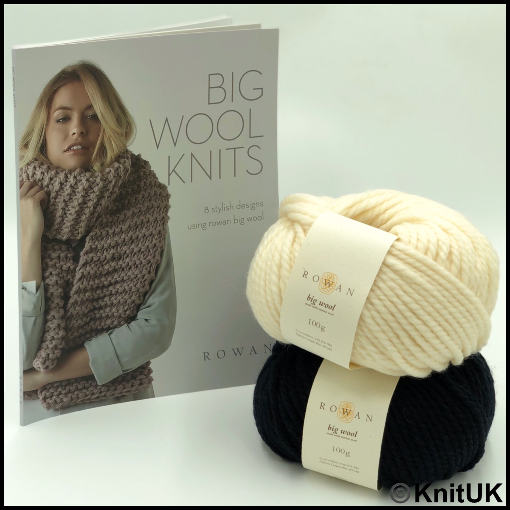 Rowan big wool knits pattern book wool merino