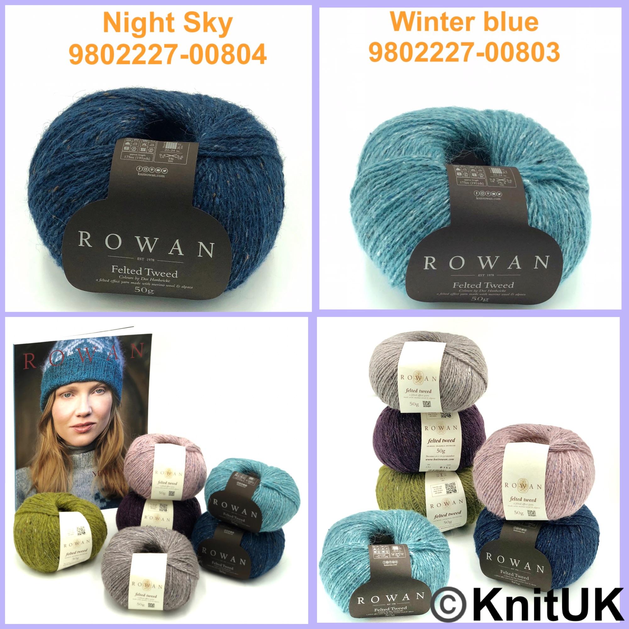 Rowan felted tweed night sky winter blue new nordic knitting yarn