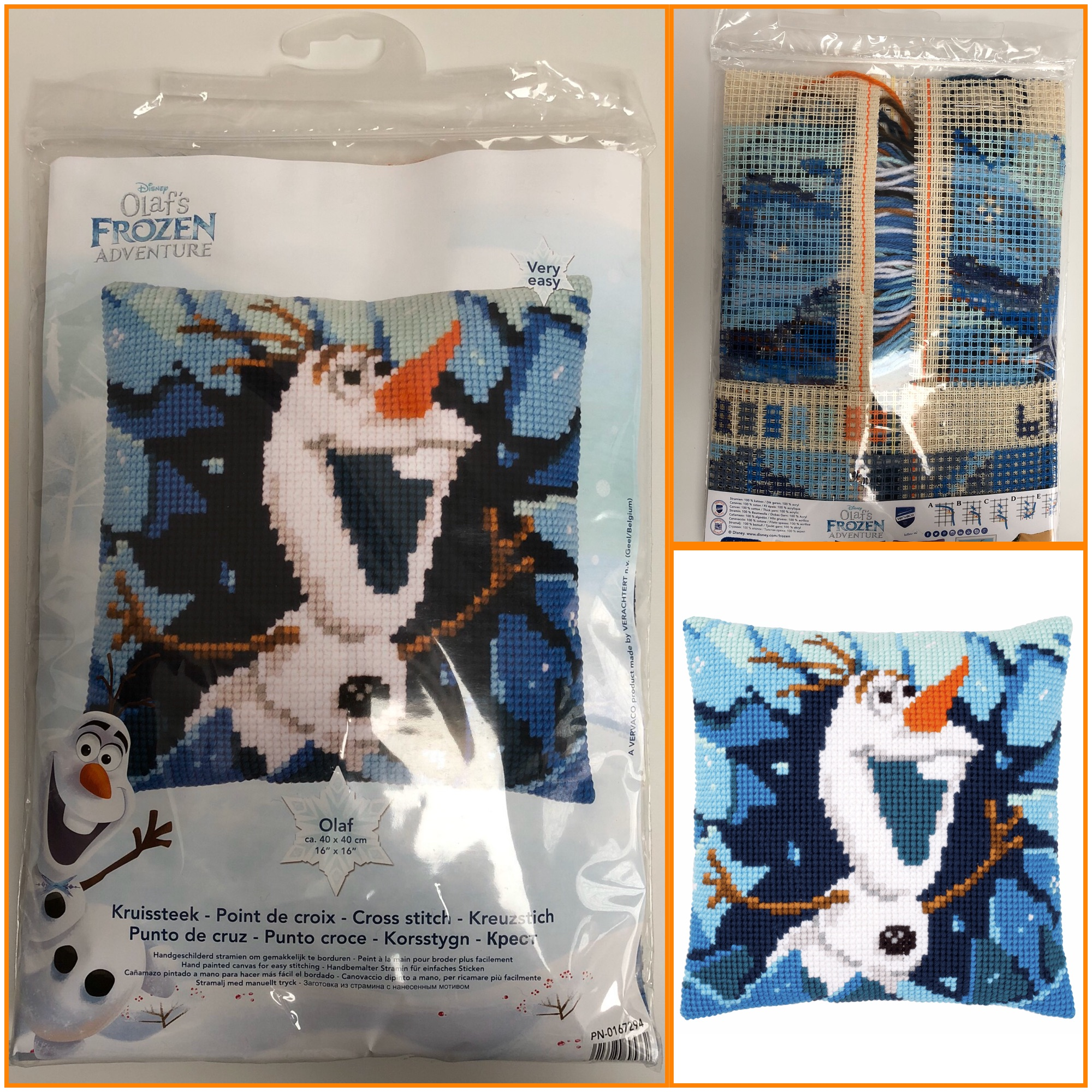Vervaco Disney Frozen Olaf tapestry cushion cover