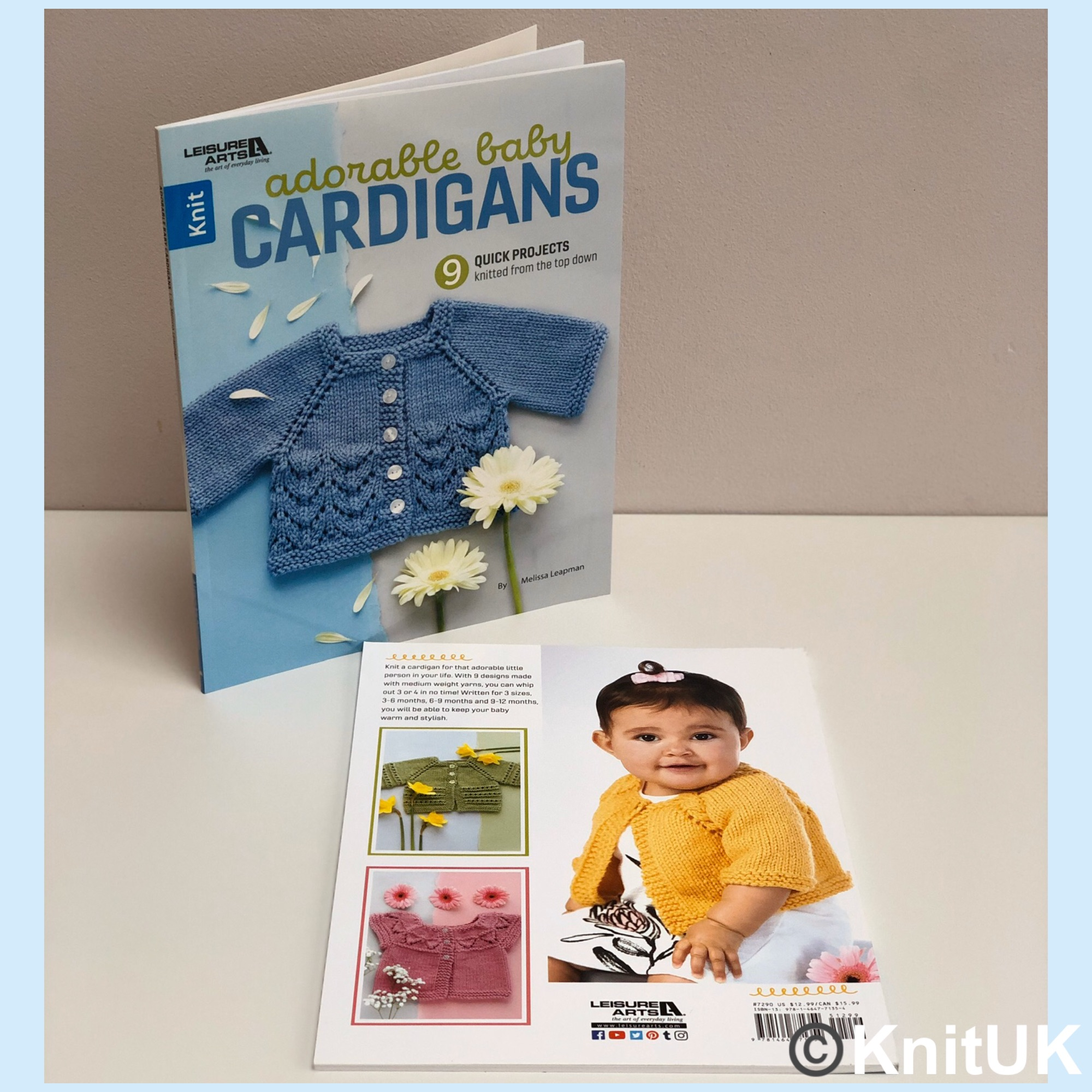 leisure arts adorable baby cardigans book knits top down melissa leapman