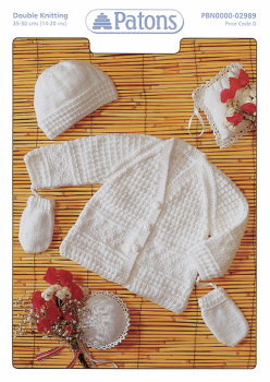Patons Double Knitting (Leaflet): Jacket, Hat and Mitts.