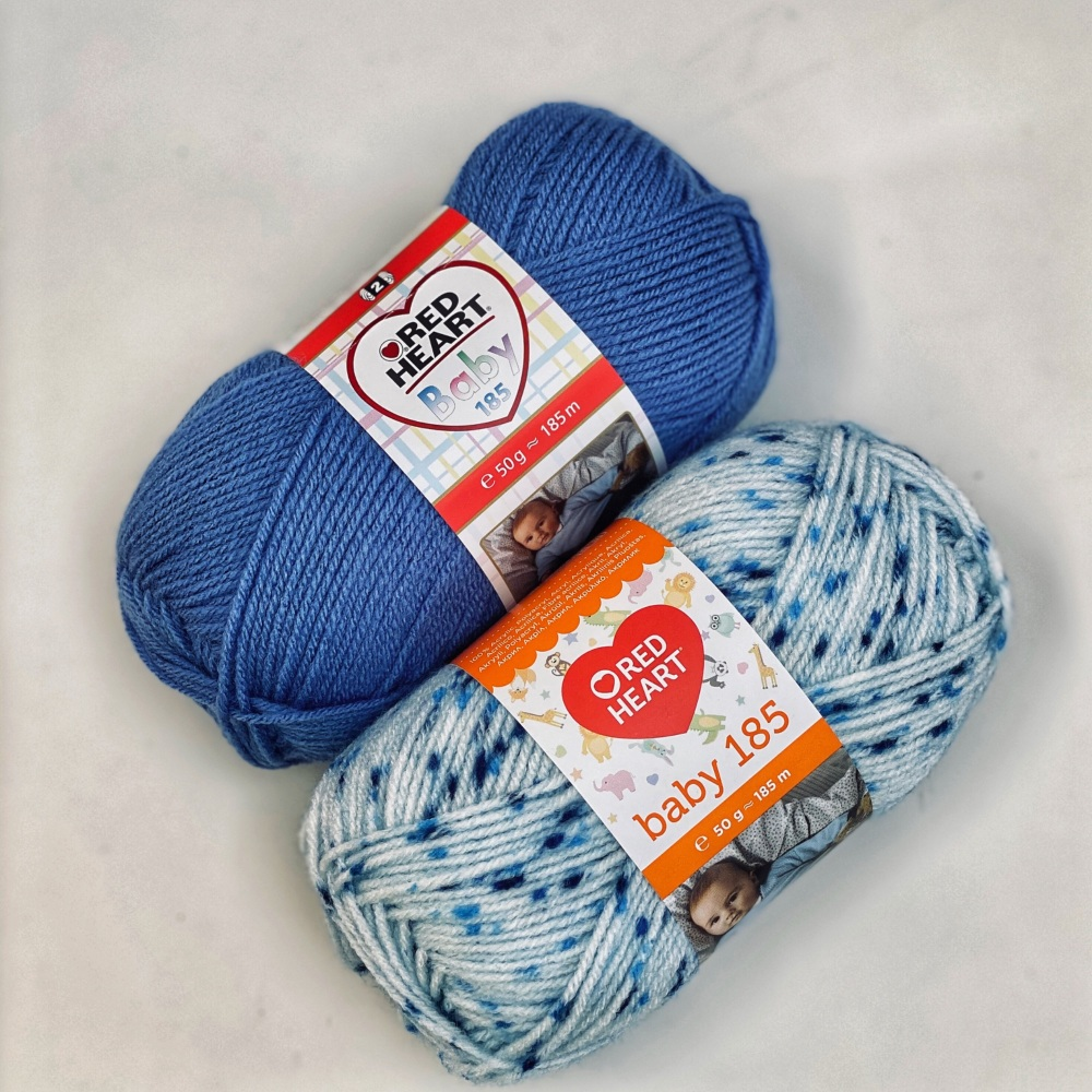 Red Heart Baby 185 (50g). Acrylic yarn for knitting and crochet.