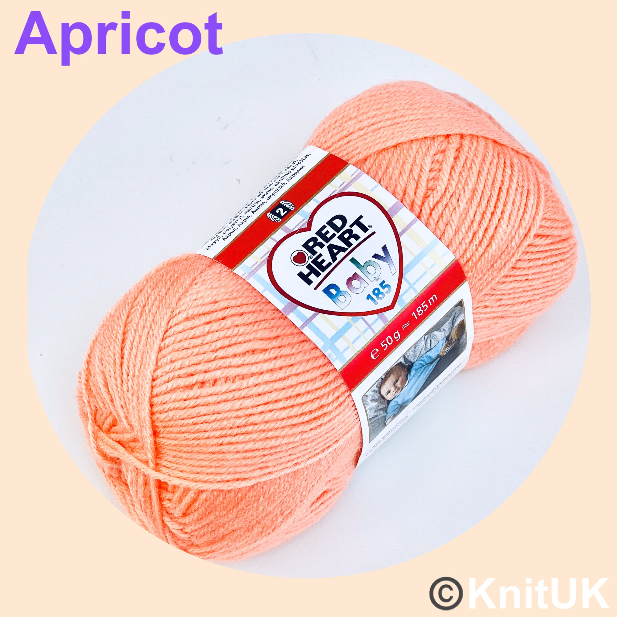 red heart baby 185 yarn apricot
