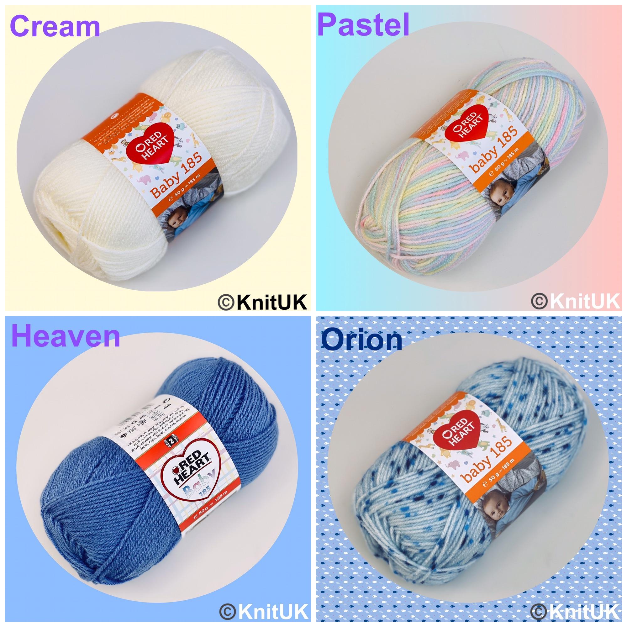 Red heart baby 185 yarn cream pastel heaven orion