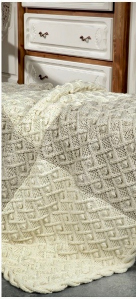 tuva contemporary home knits book cable blanket design