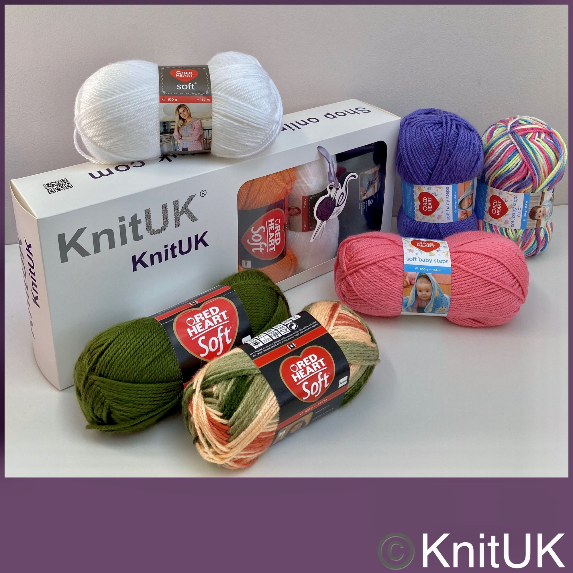 red heart soft baby steps aran soft yarn knituk box