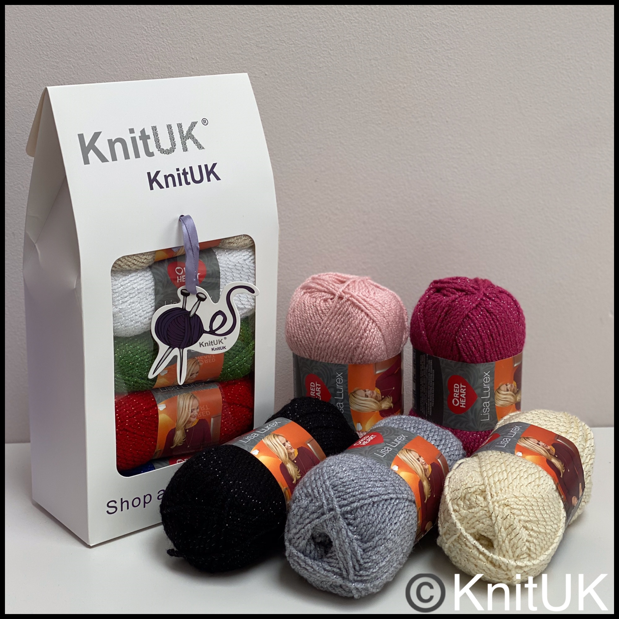 Red heart lisa lurex dk fashion knitting yarn knituk box