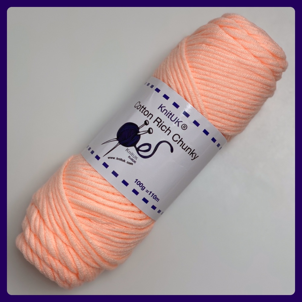KnitUK Cotton Rich Chunky (100g). Yarn for Hand Knitting, Loom knitting & C