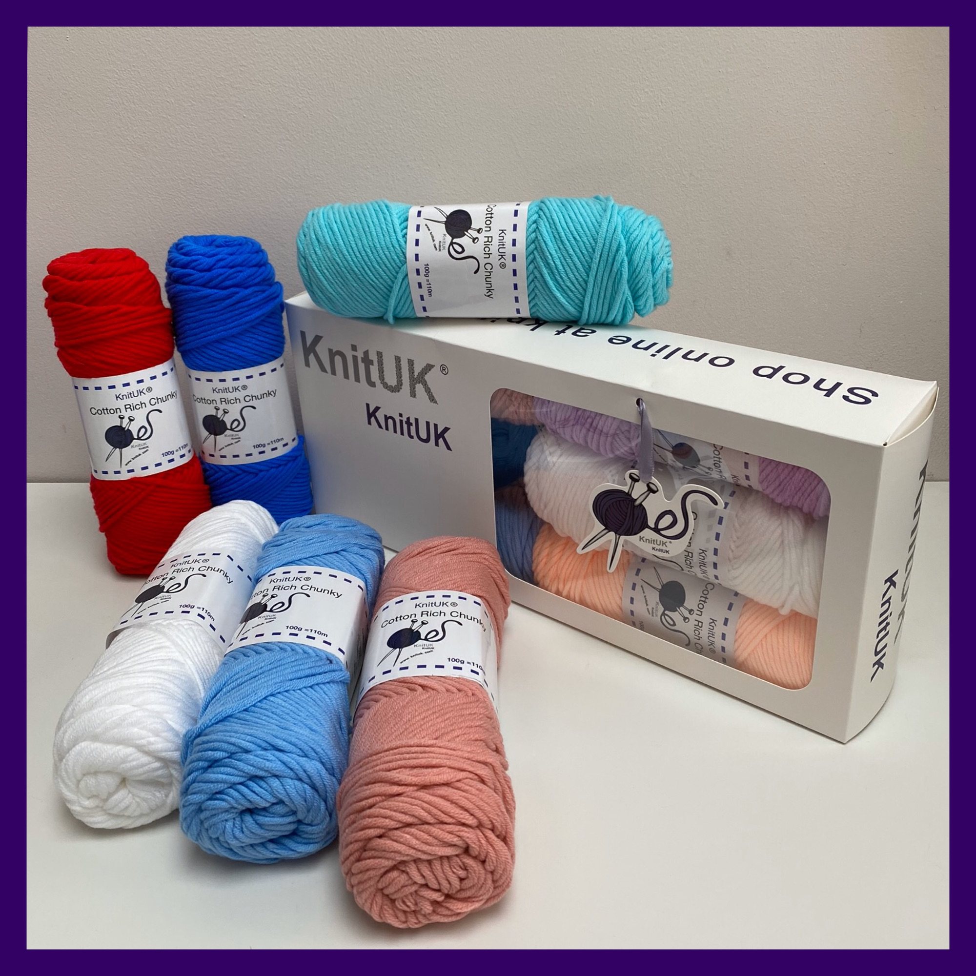 knituk cotton rich chunky knitting loom crochet yarn