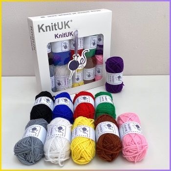 KnitUK Craft DK . Yarn Box  (10 mini balls).