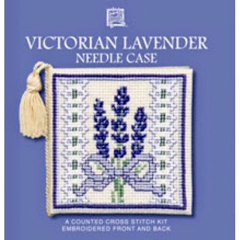Needle Case Victorian Lavender. Cross Stitch Kit by Textile Heritage.