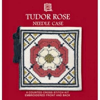 Needle Case Tudor Rose. Cross Stitch Kit by Textile Heritage.