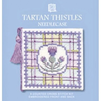 Needle Case Tartan Thistles. Cross Stitch Kit by Textile Heritage.