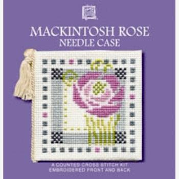 Needle Case Mackintosh Rose. Cross Stitch Kit by Textile Heritage.