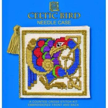 Needle Case Celtic Bird. Cross Stitch Kit by Textile Heritage.