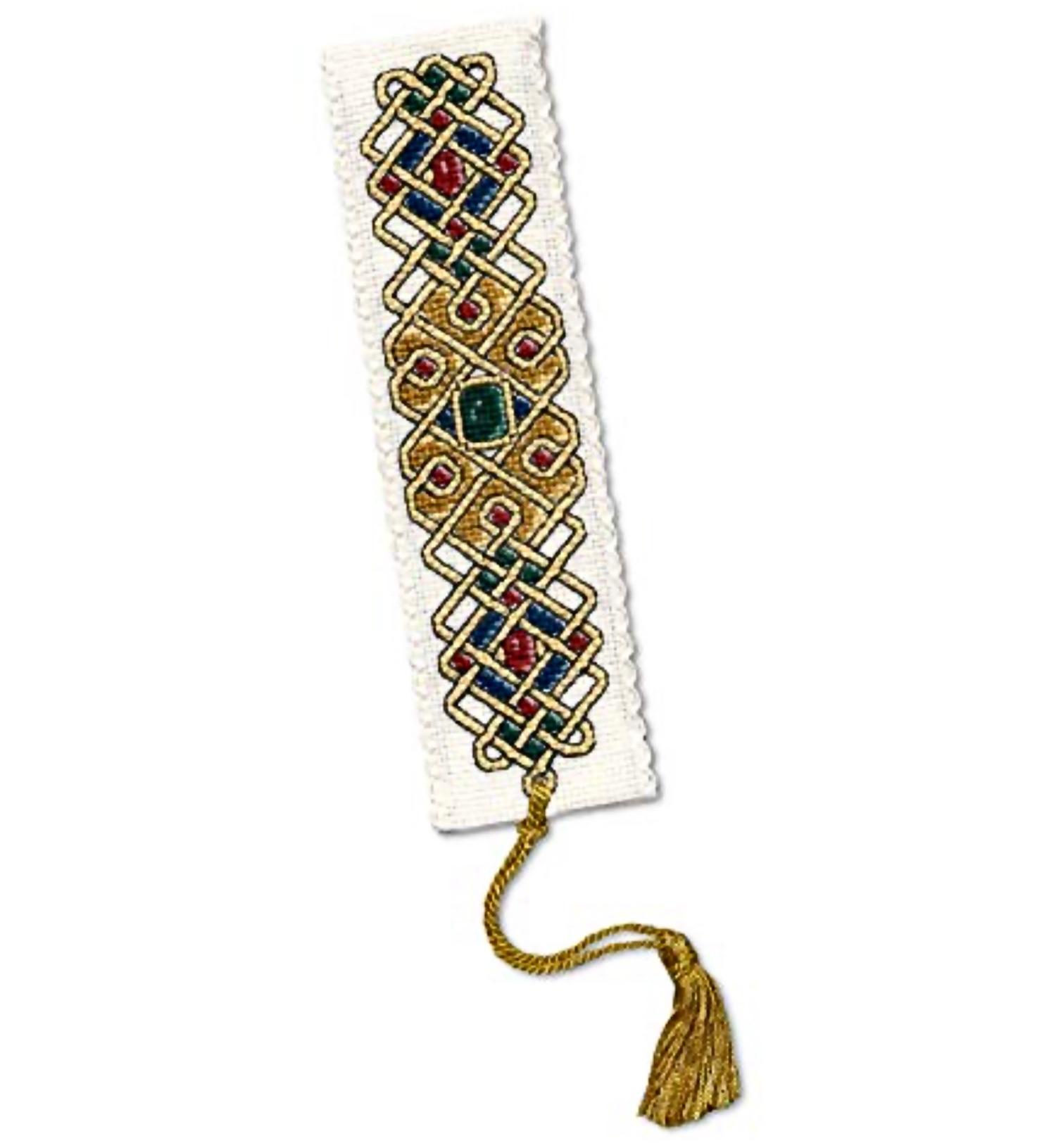 BOOKMARK Celtic Jewel. Cross Stitch Kit by Textile Heritage
