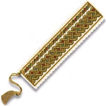 BOOKMARK Celtic Knot. Cross Stitch Kit by Textile Heritage