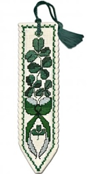 BOOKMARK Shamrock. Cross Stitch Kit by Textile Heritage