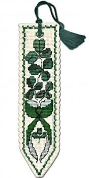 BOOKMARK Shamrock. Cross Stitch Kit by Textile Heritage