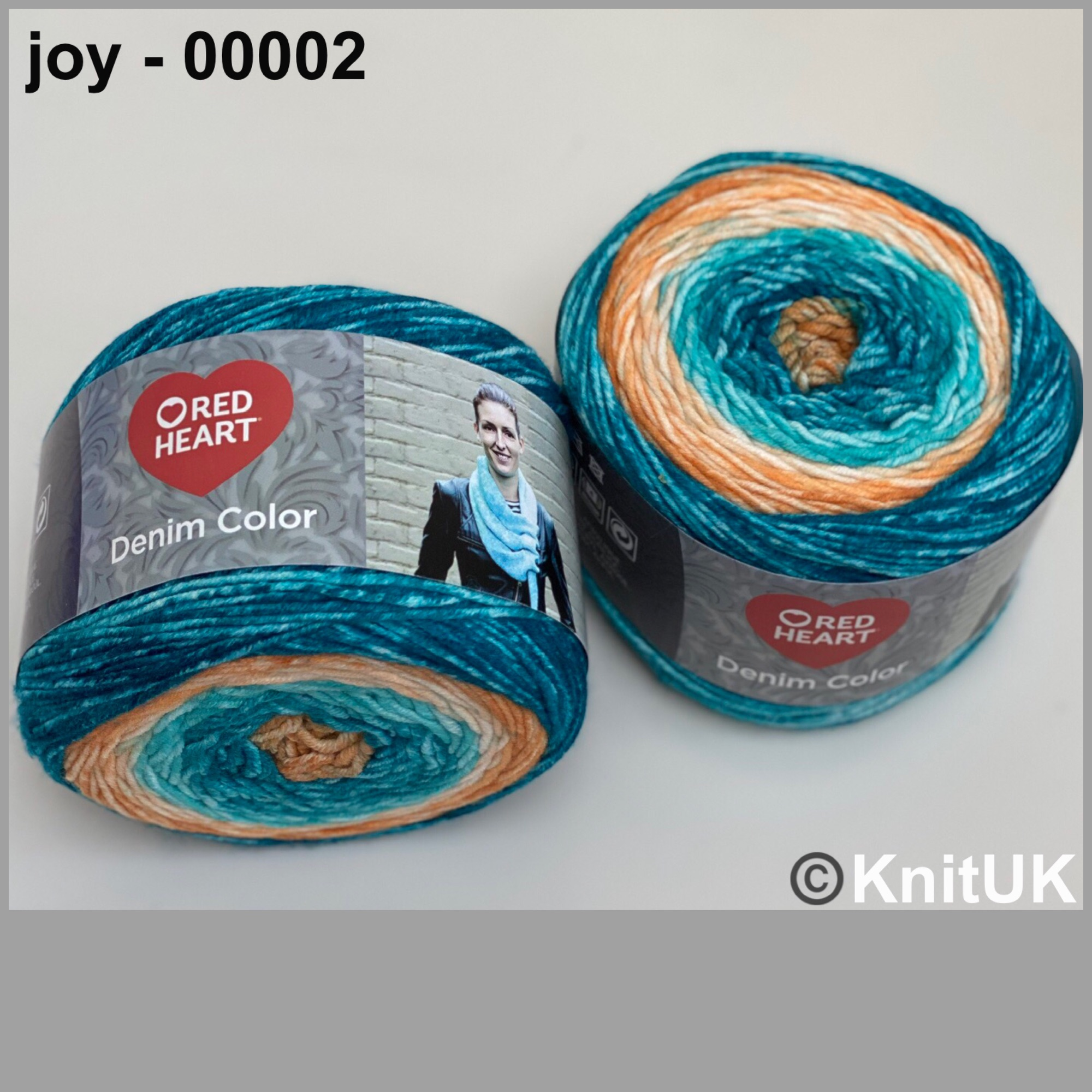 Red heart denim color joy colour acrylic yarn loom knitting crochet