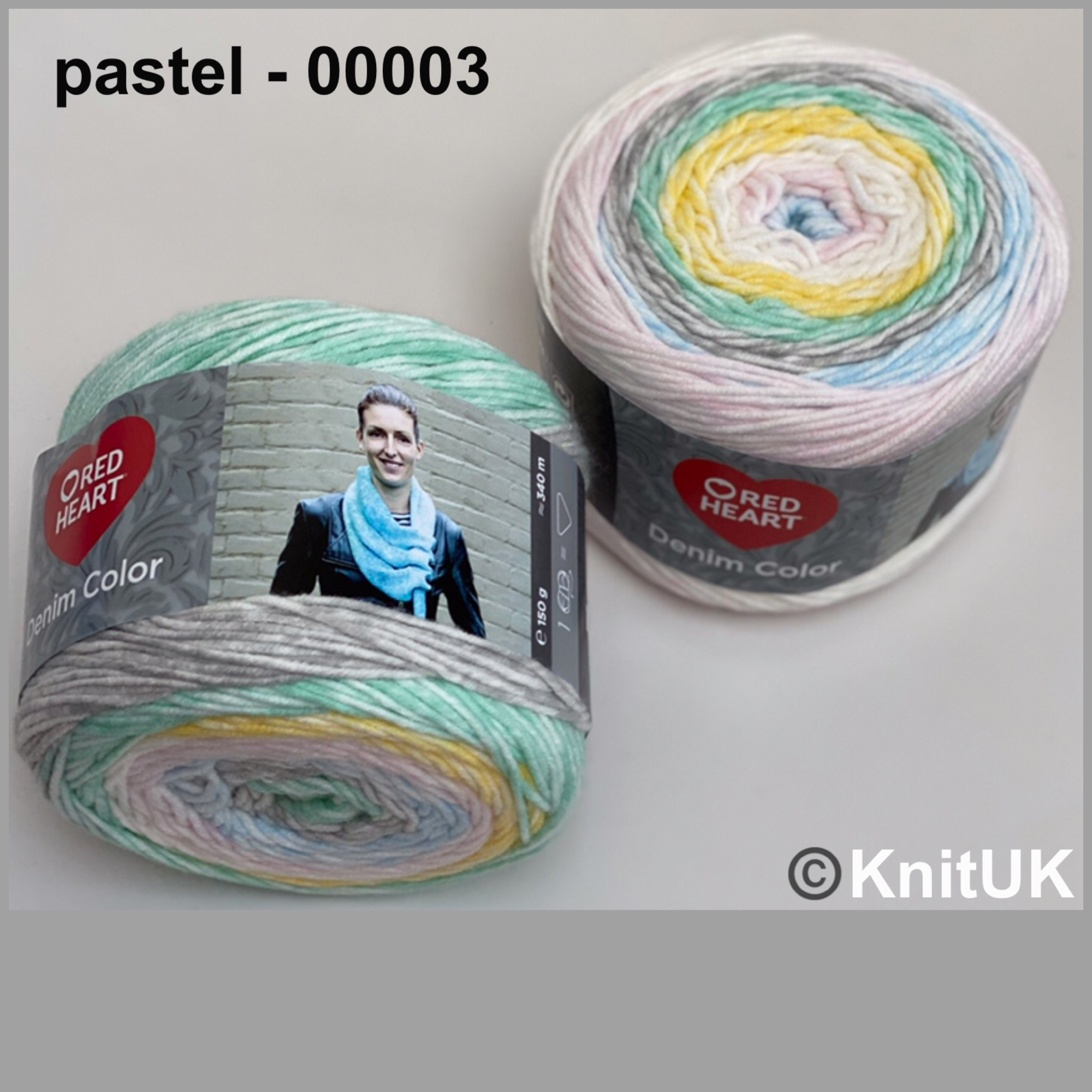 Red heart denim color pastel colour acrylic yarn loom knitting crochet