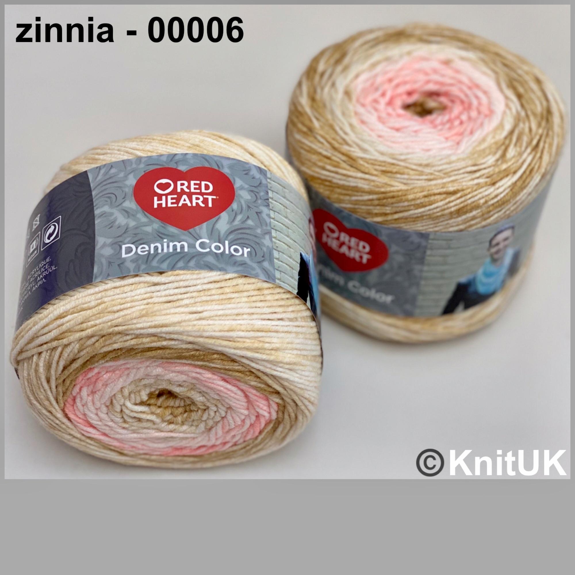Red heart denim color zinnia colour acrylic yarn loom knitting crochet