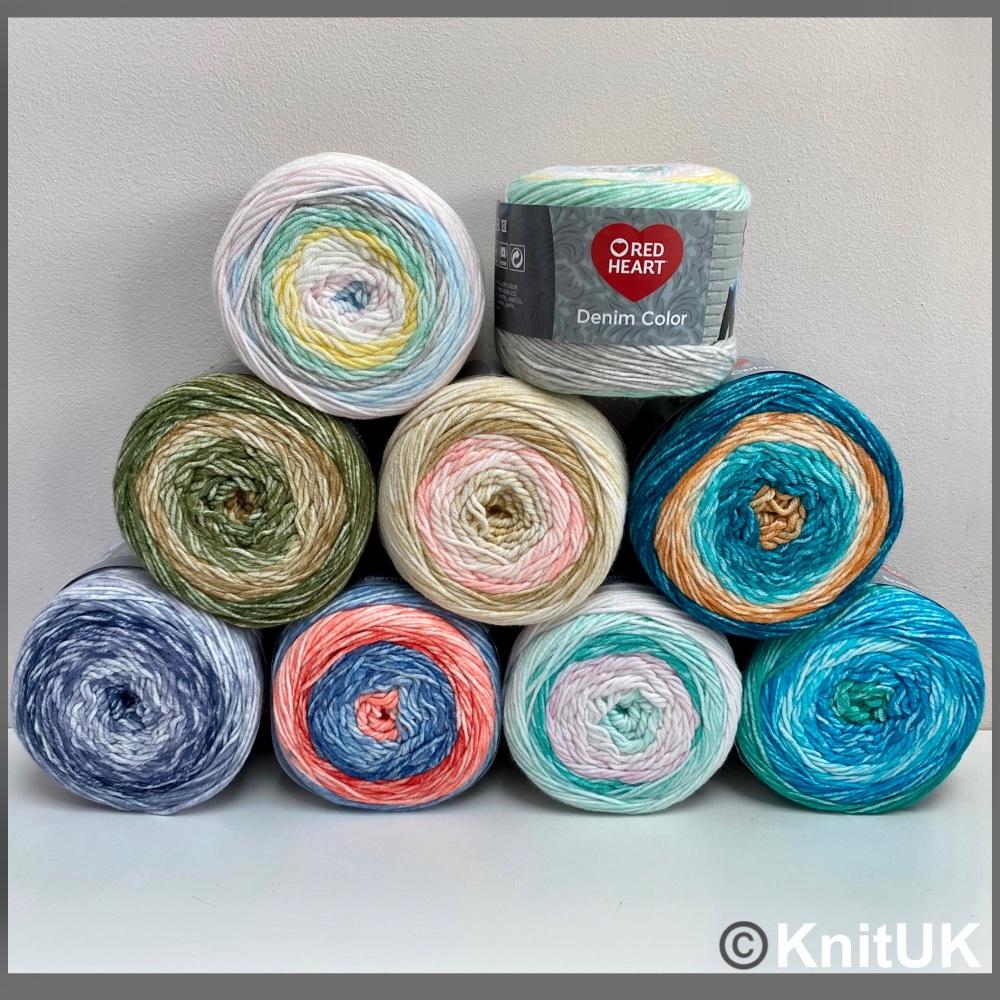 Red heart denim color all colours acrylic yarn loom knitting crochet