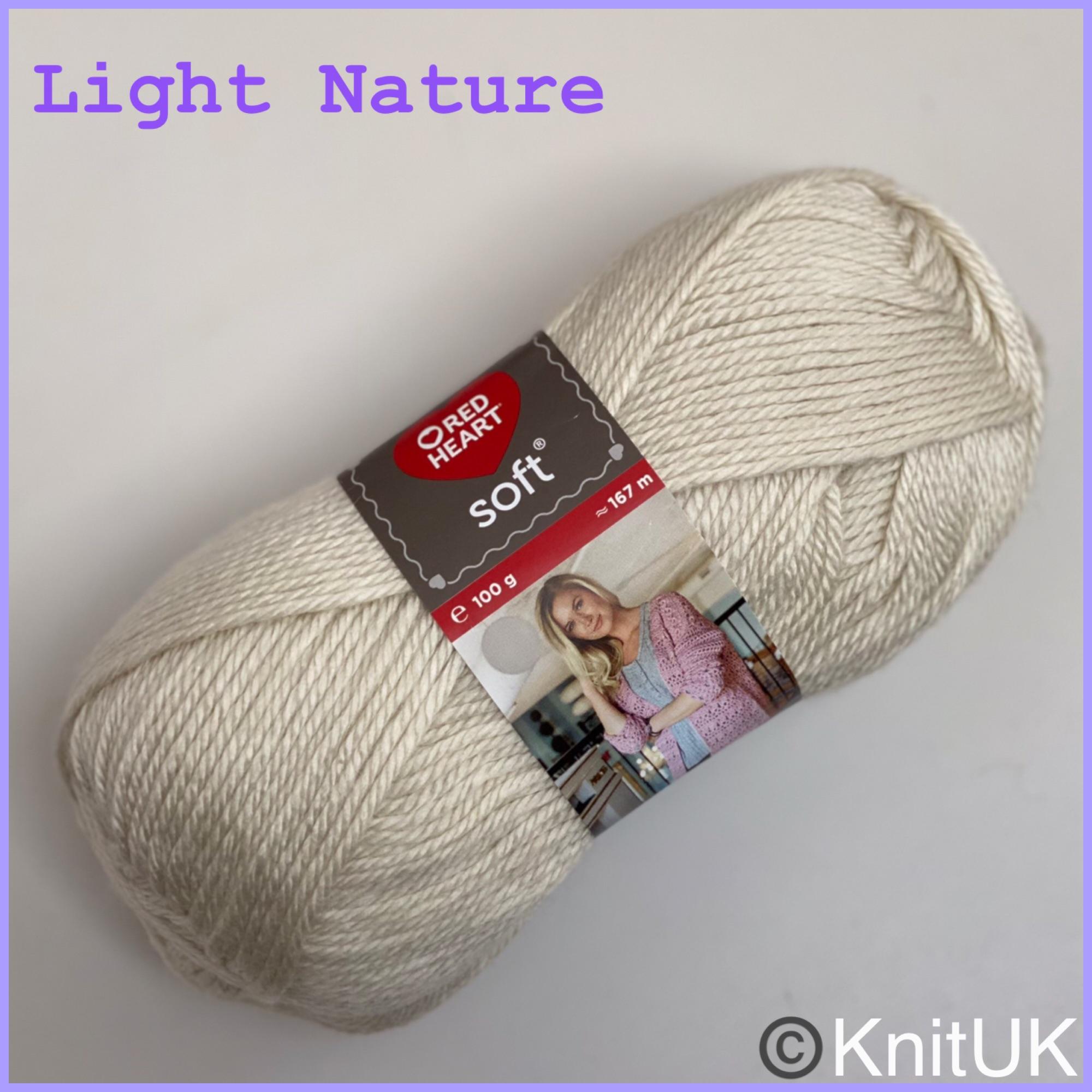 Red Heart Soft Light Nature Aran acrylic loom knitting yarn