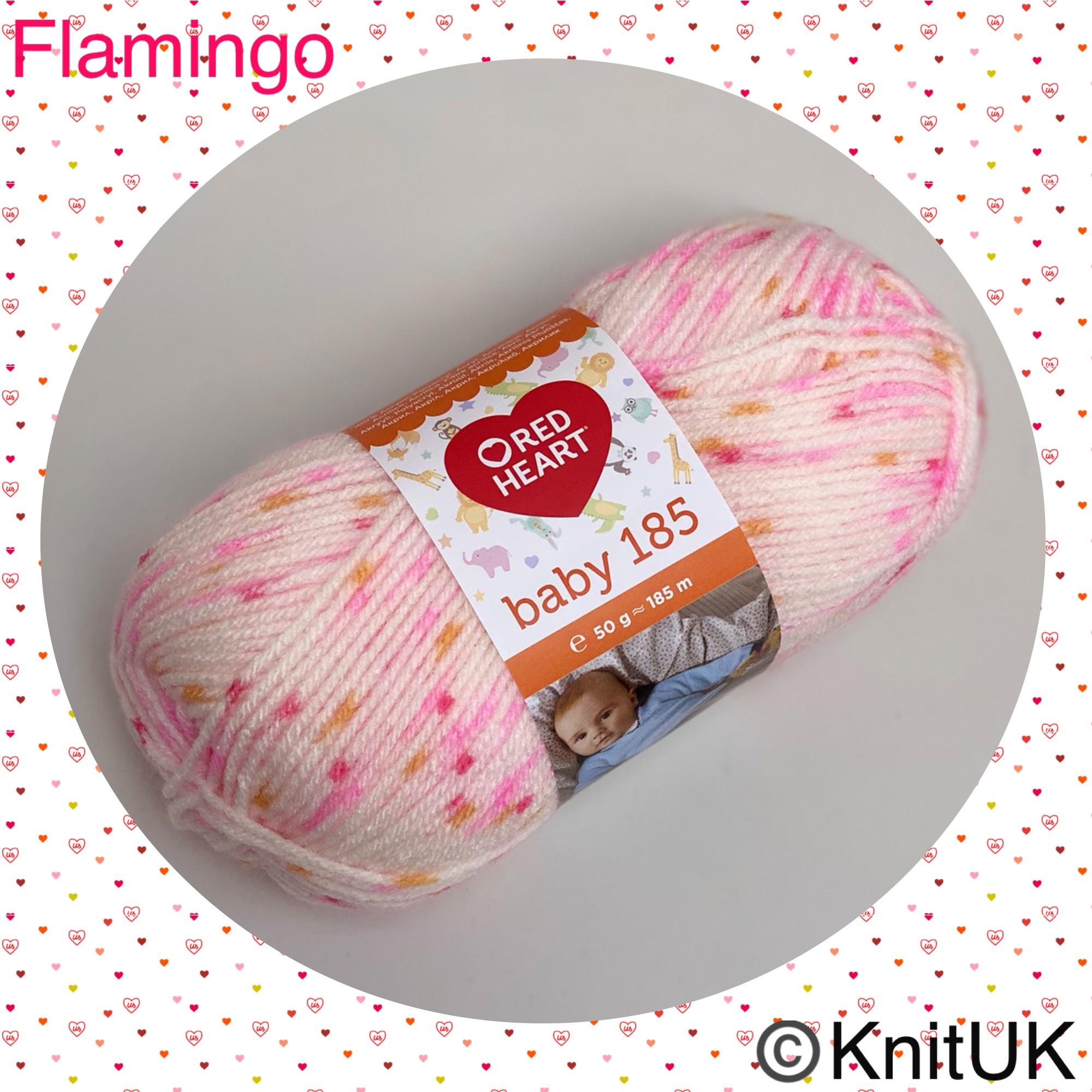 Red heart baby 185 Flamingo loom knitting crochet yarn