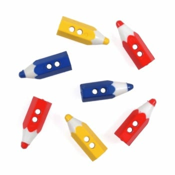 Button Pencils. Pack of 7. Trimits