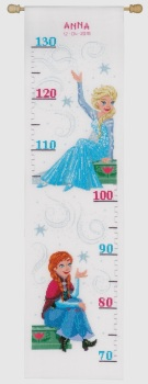 Cross Stitch Kit. Height Chart. Disney: Frozen. Sister Forever (Vervaco)