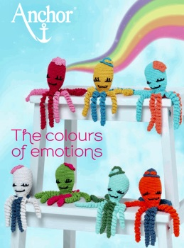 The Colours of emotions. Octopus Baby Collection. Crochet Brochure. 14 pages (Anchor)