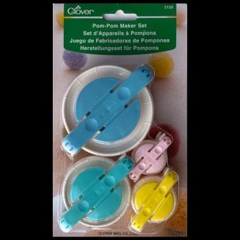 Pom Pom Maker Set: 4 Sizes (Clover)