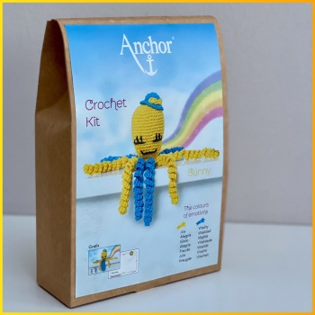 The Colours of emotions. Octopus Baby Collection. Crochet Kit Octopus. Sunny: Yellow / Turquoise. Anchor.