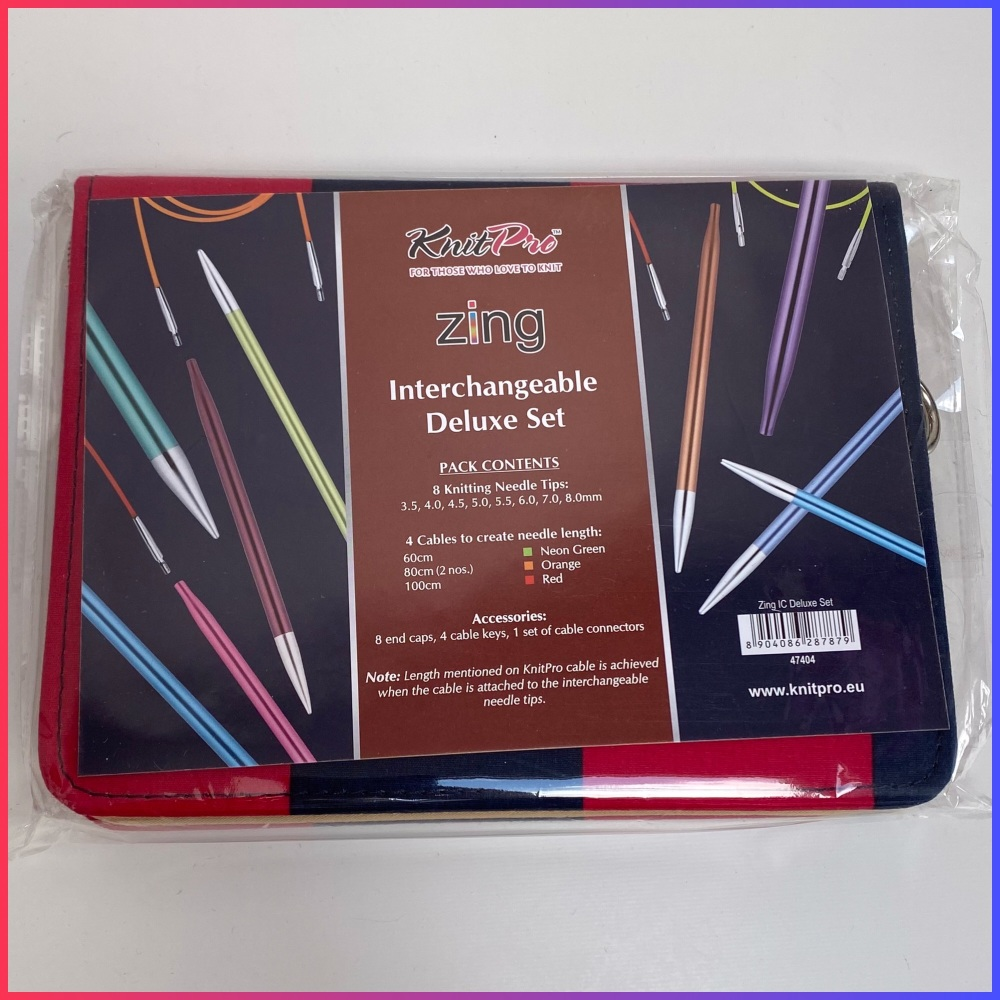 KnitPro Zing Knitting Needles Interchangeable Deluxe Set