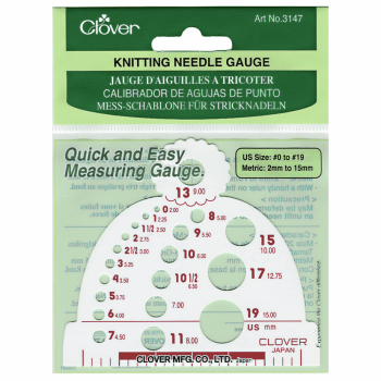 Knitting Needle Gauge. Clover.