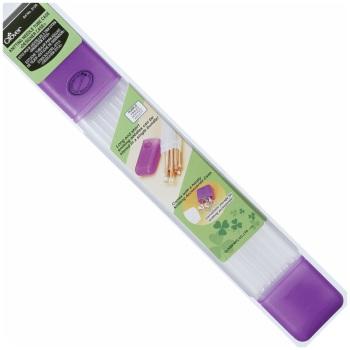 Knitting Needle Tube Case: Purple. Clover